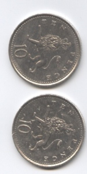 Double sided coin.
